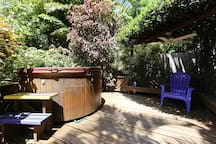 Hot Tub Deck with Fountain