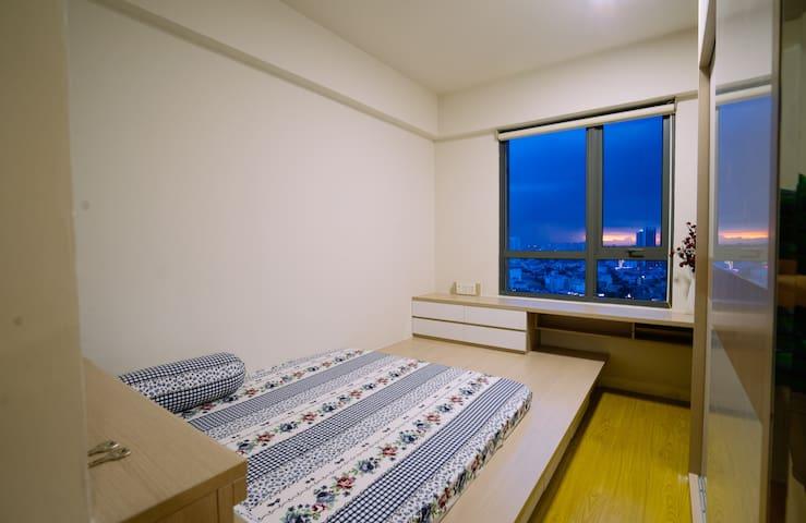 The master bedroom with an en-suite bathroom.