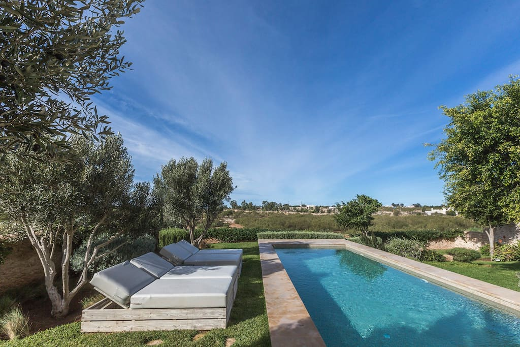 Maison avec piscine chauff e maisons louer essaouira - Location villa piscine essaouira ...