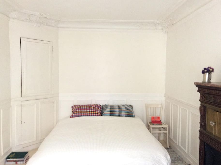 Large and bright double bedroom with brand new hotel quality Queen size bed