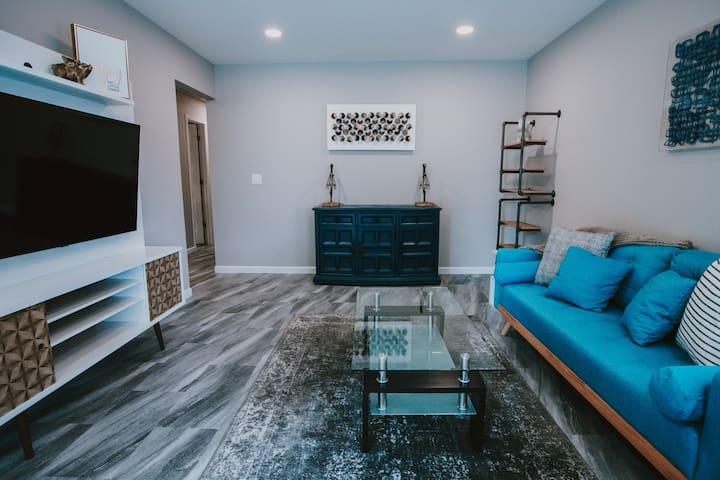 Retro Modern Home + 3 Full Living Rooms!