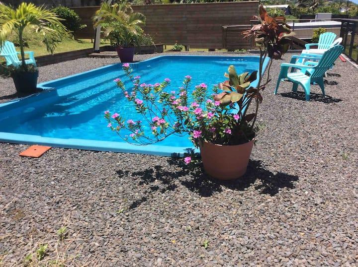 Case Géranium avec piscine chauffée