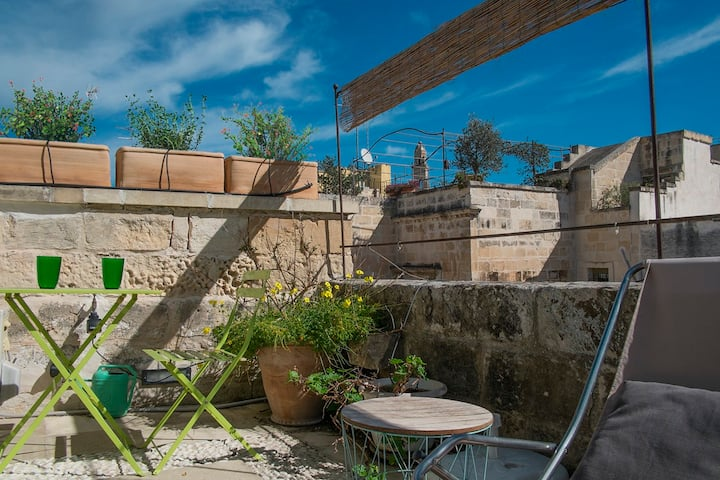 A terrace in the heart of Lecce