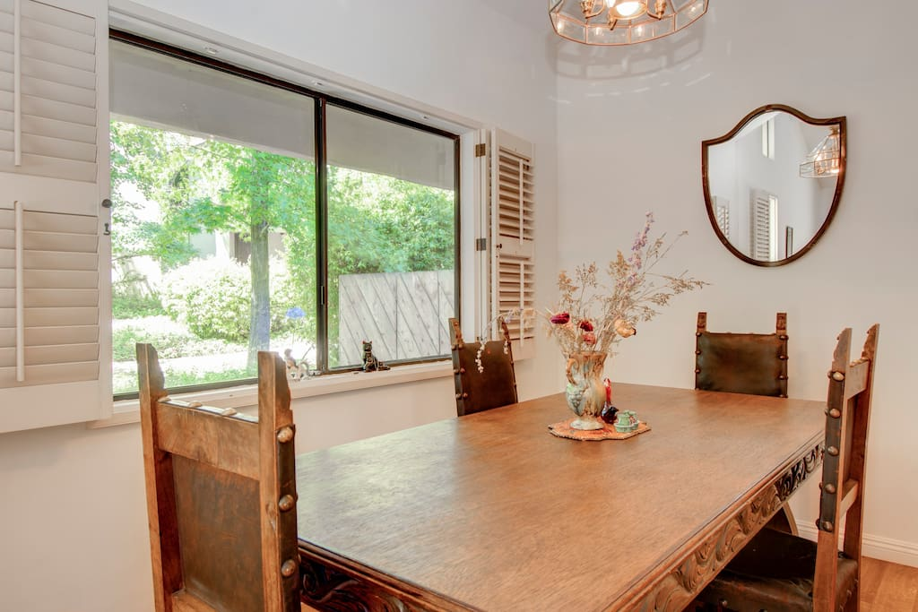 Rustic spanish dining table seats 4-6