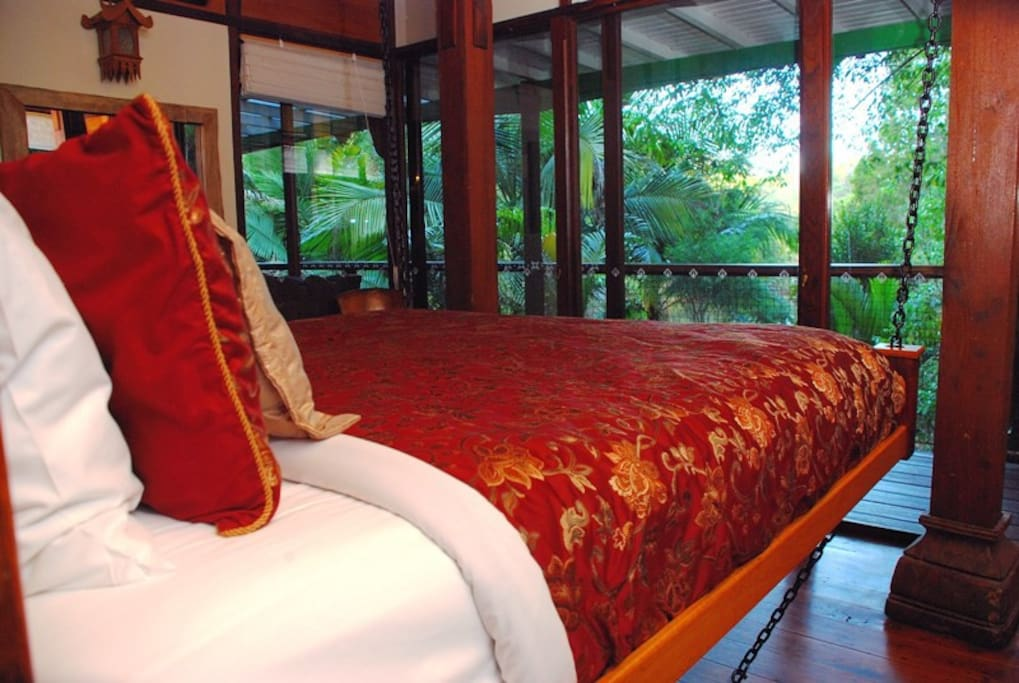 The Suspended King Bed