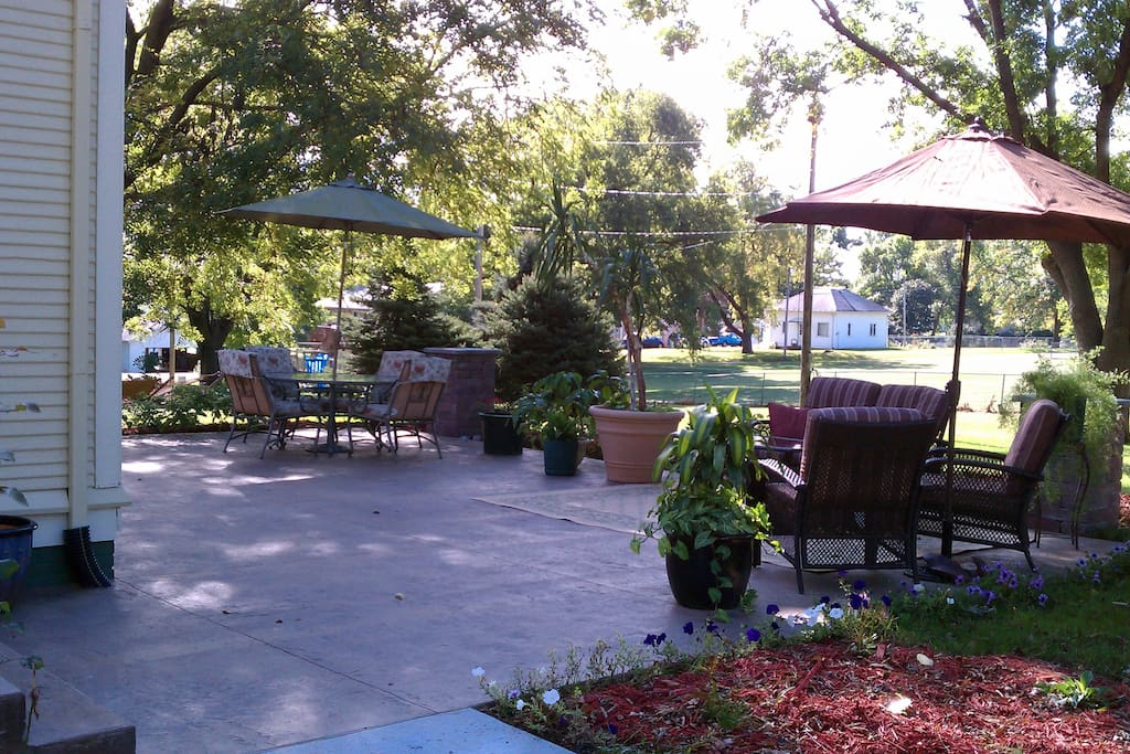 Enjoy evenings or breakfast on the patio, weather permitting