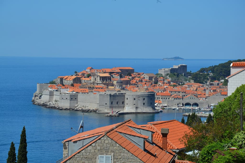 Roof of our house with picturesque view of Dubrovnik
