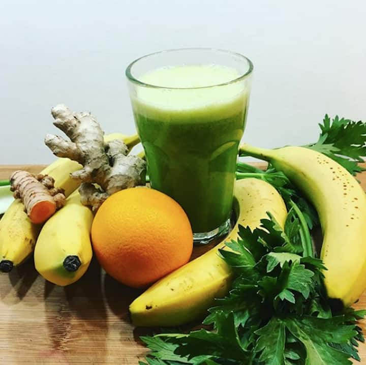 Fresh press juice provided by Vert Vert