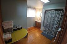 First floor bathroom with shower / tub
