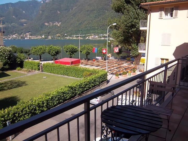 Appartamento sul lago di Lugano, a Riva San Vitale