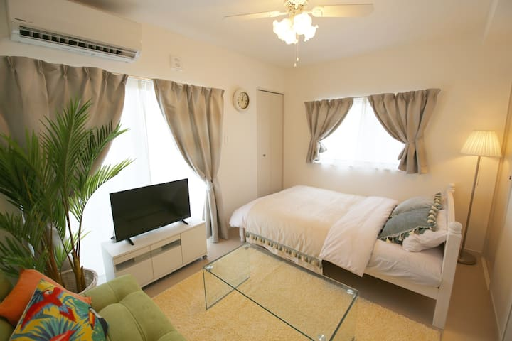 Naha Airport10mins by car!Private flat! AS807 #401