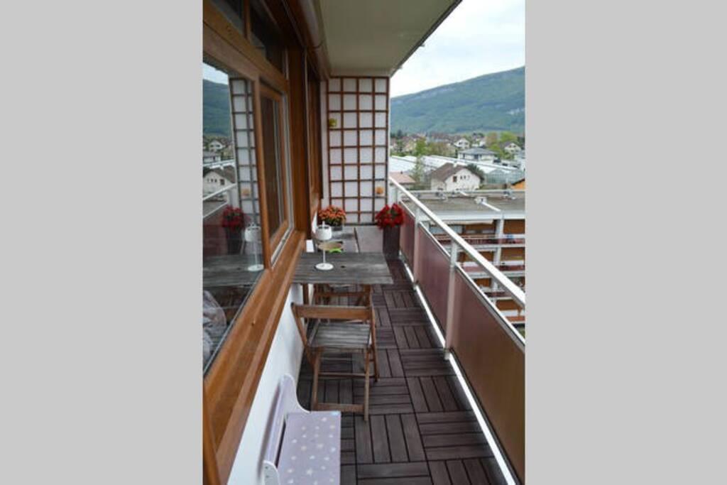 balcon, vue exceptionnelle, plein sud