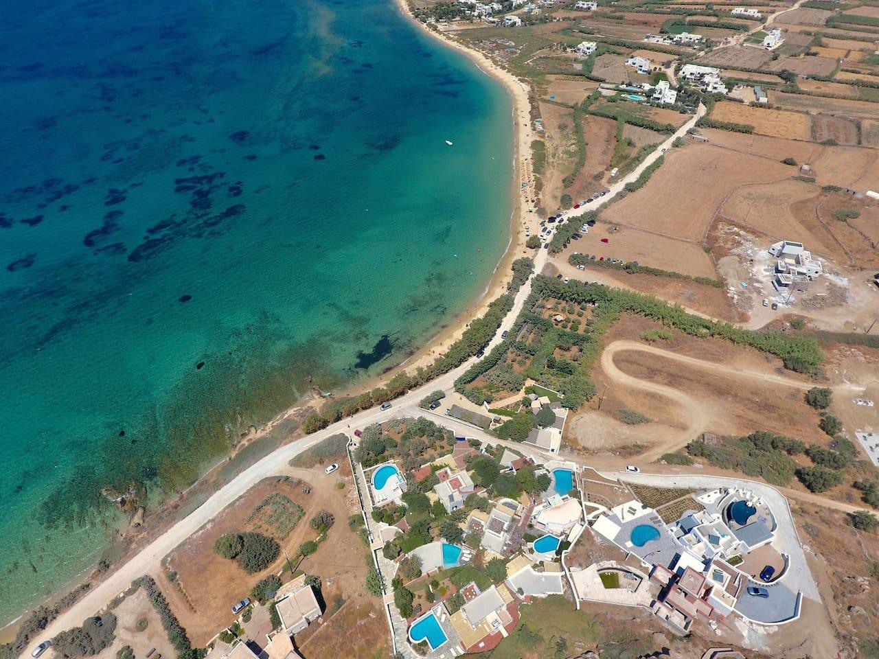 villa paradise hotel plaka beach orkos bay