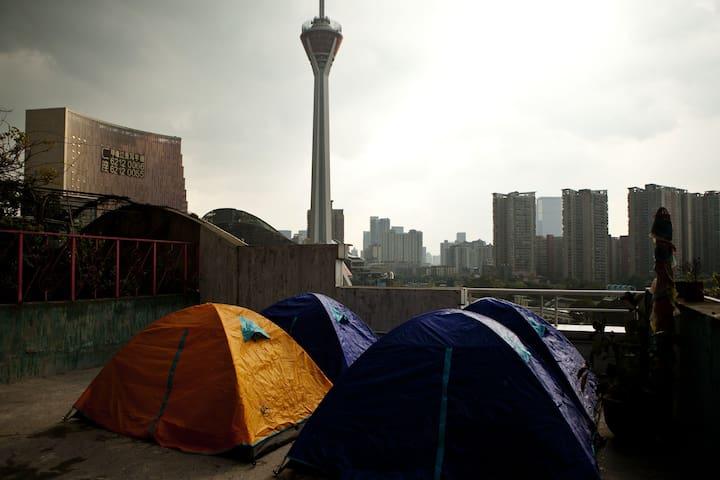 全景观景帐篷房 - Chengdu Shi - Pis