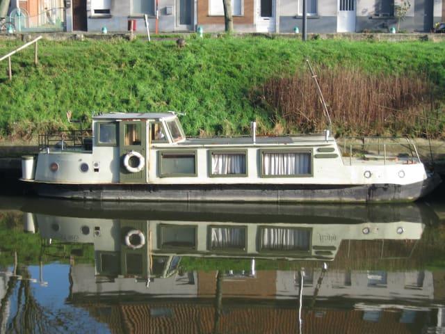Small houseboat - Kleine woonboot (12 meter) - Gent - Boat