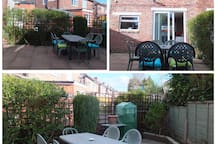 Our back garden where you can take your breakfast or chill out