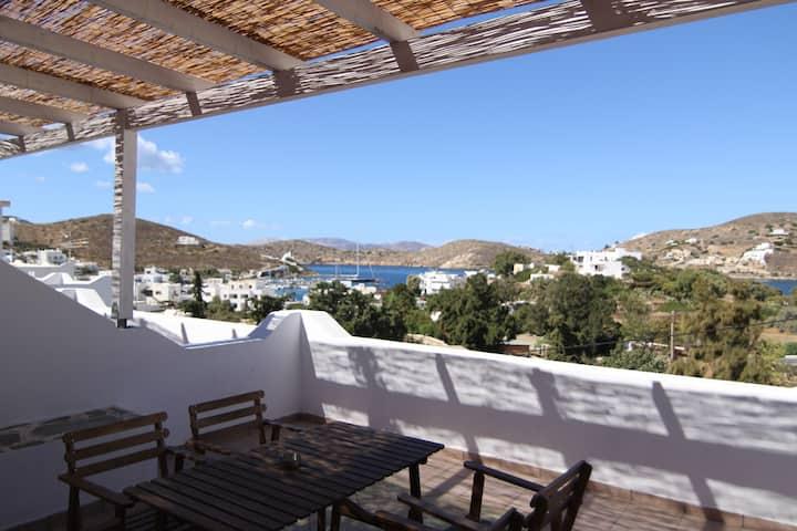 big terrace studio with sea view
