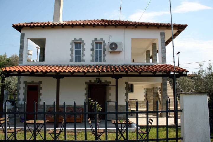 Halkidiki Villa first to beach 145 m2 Four Bedroom