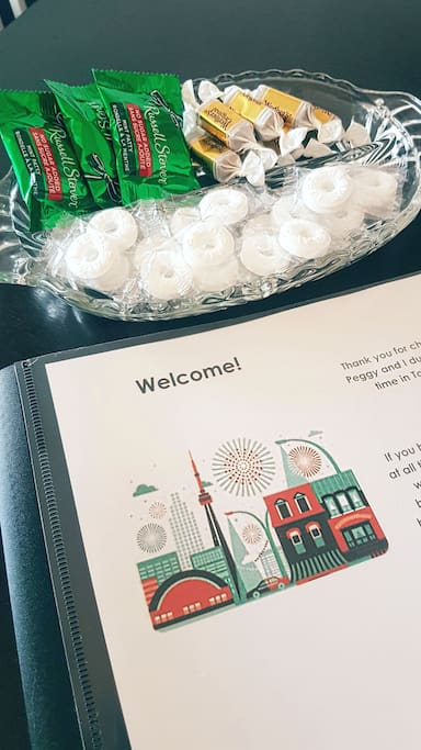 Information booklet & Welcome Candies