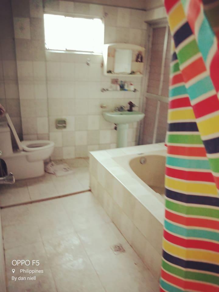 A clean toilet and bath