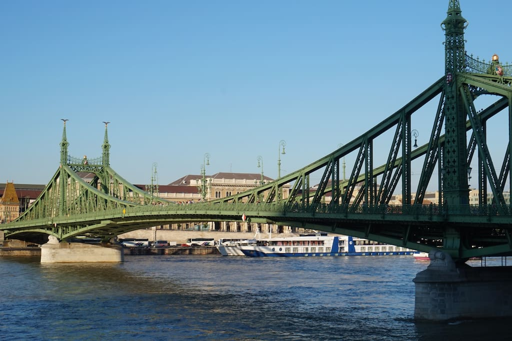 The Liberty Bridge is 250 meters from the apartment