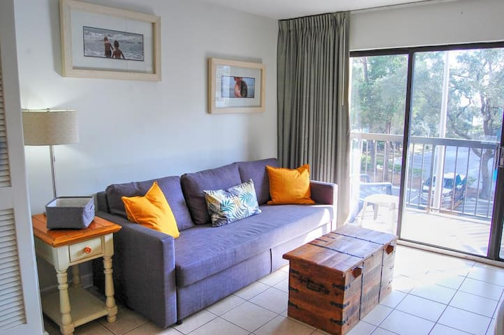 Beautifully furnished 1 bedroom condo located in the Ocean Dunes Towers close to all the attractions.
