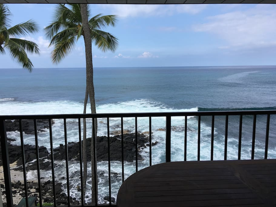 Lanai and outdoor dining table