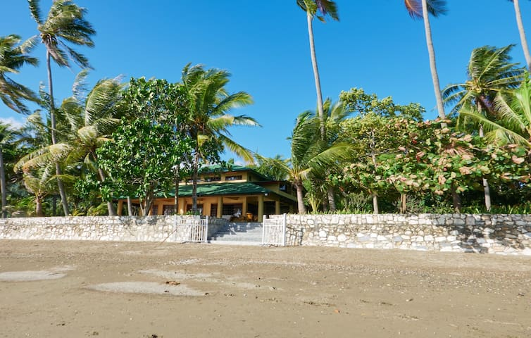 a 3,000 sqm beach front property