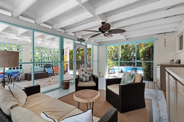 Dog-friendly house with private pool, island views & nearby beach access!