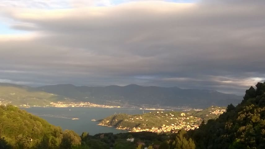 Charming apartment facing the sea - Lerici - Hus