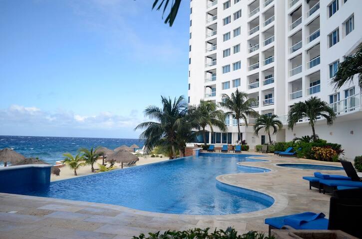 Beachfront Penthouse Condo Peninsula Grand Cozumel