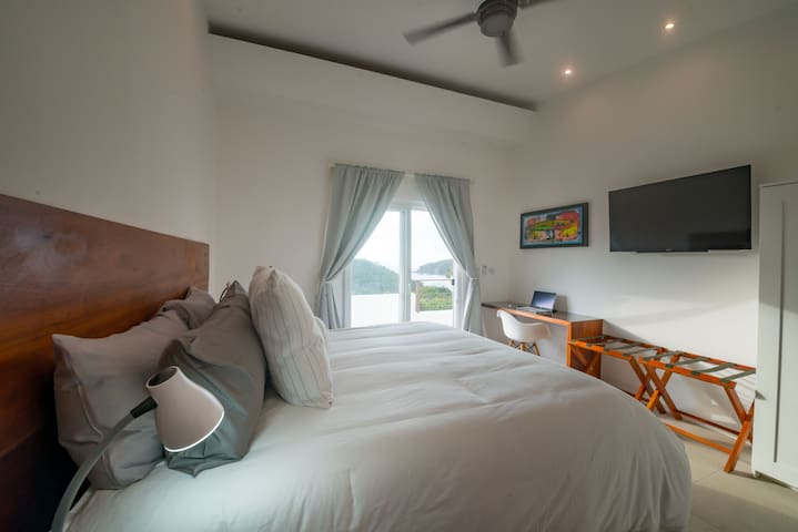 The second master suite is called Mar y Cielo- Sea and Sky which is exactly your view!