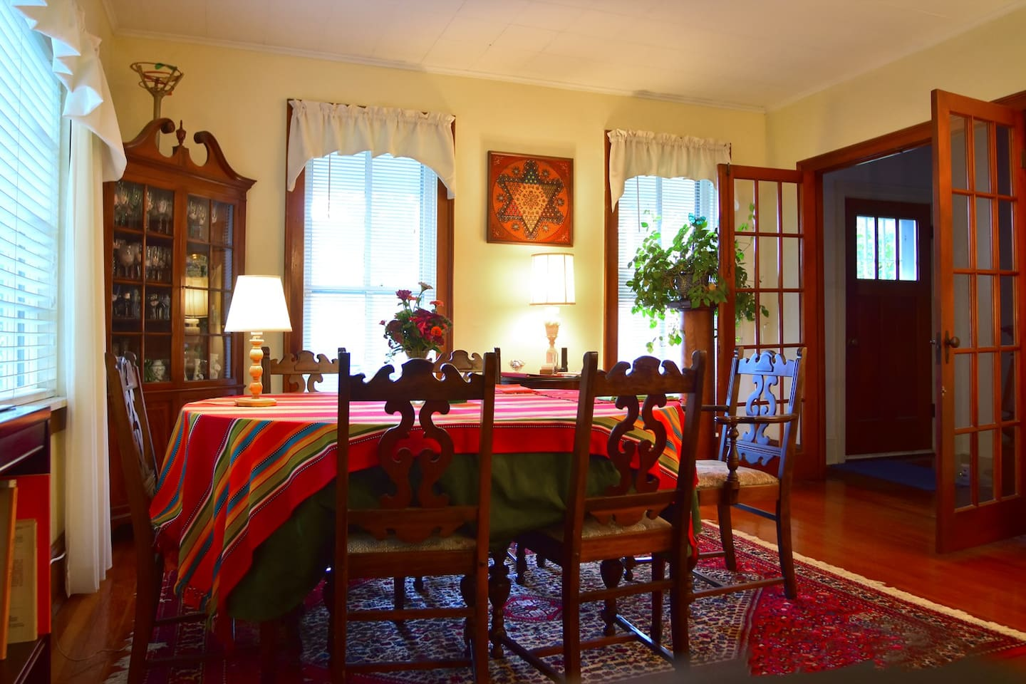 Our formal dining room greets you as you come in the front door.