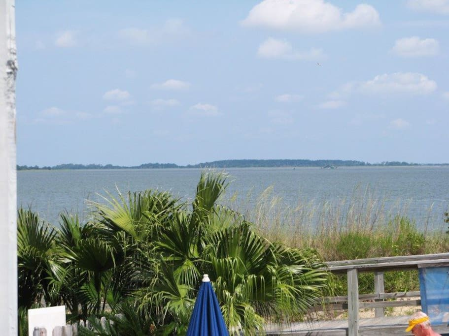 Enjoy the View of the Pool, Savannah River Entrance and Atlantic Ocean from your Private Balcony