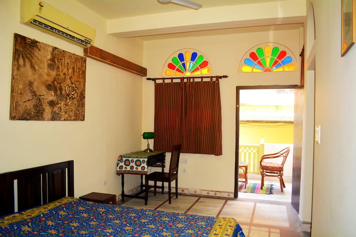 A private room with balcony in walled city