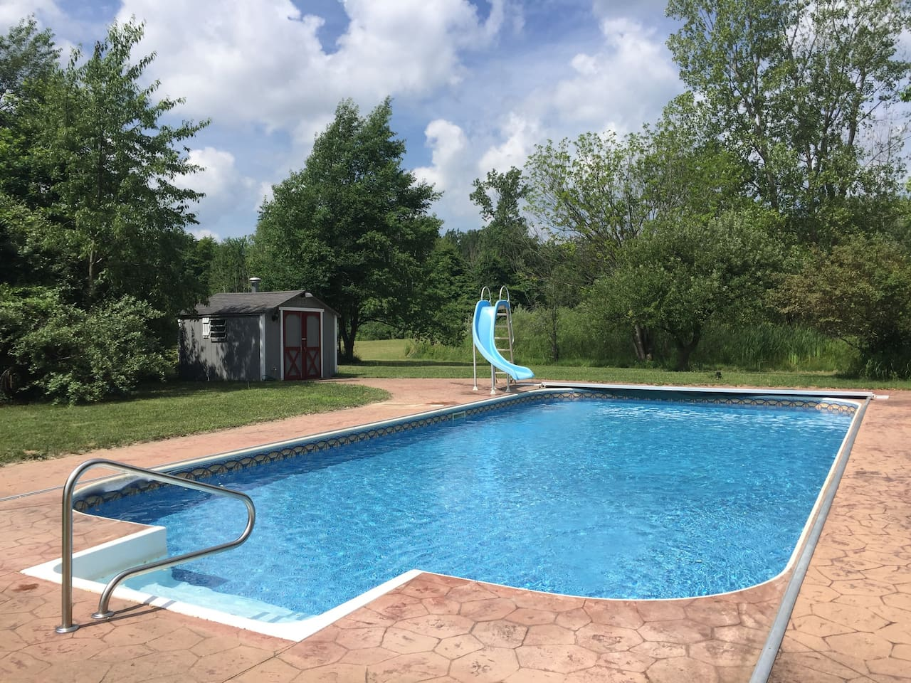 20'x40' Swimming Pool. Open daily 9 AM until nightfall.