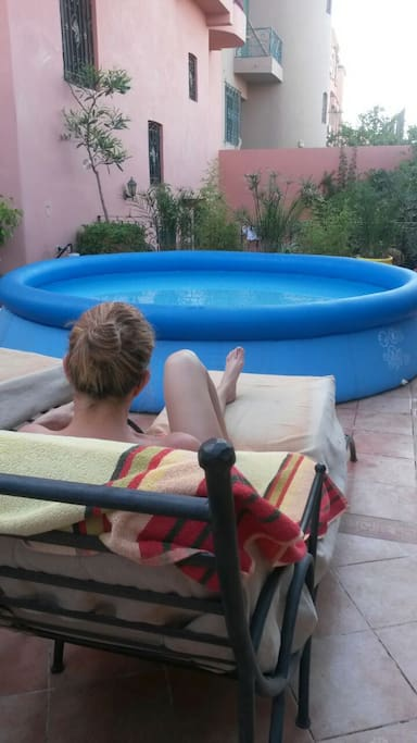 Coin piscine l été
