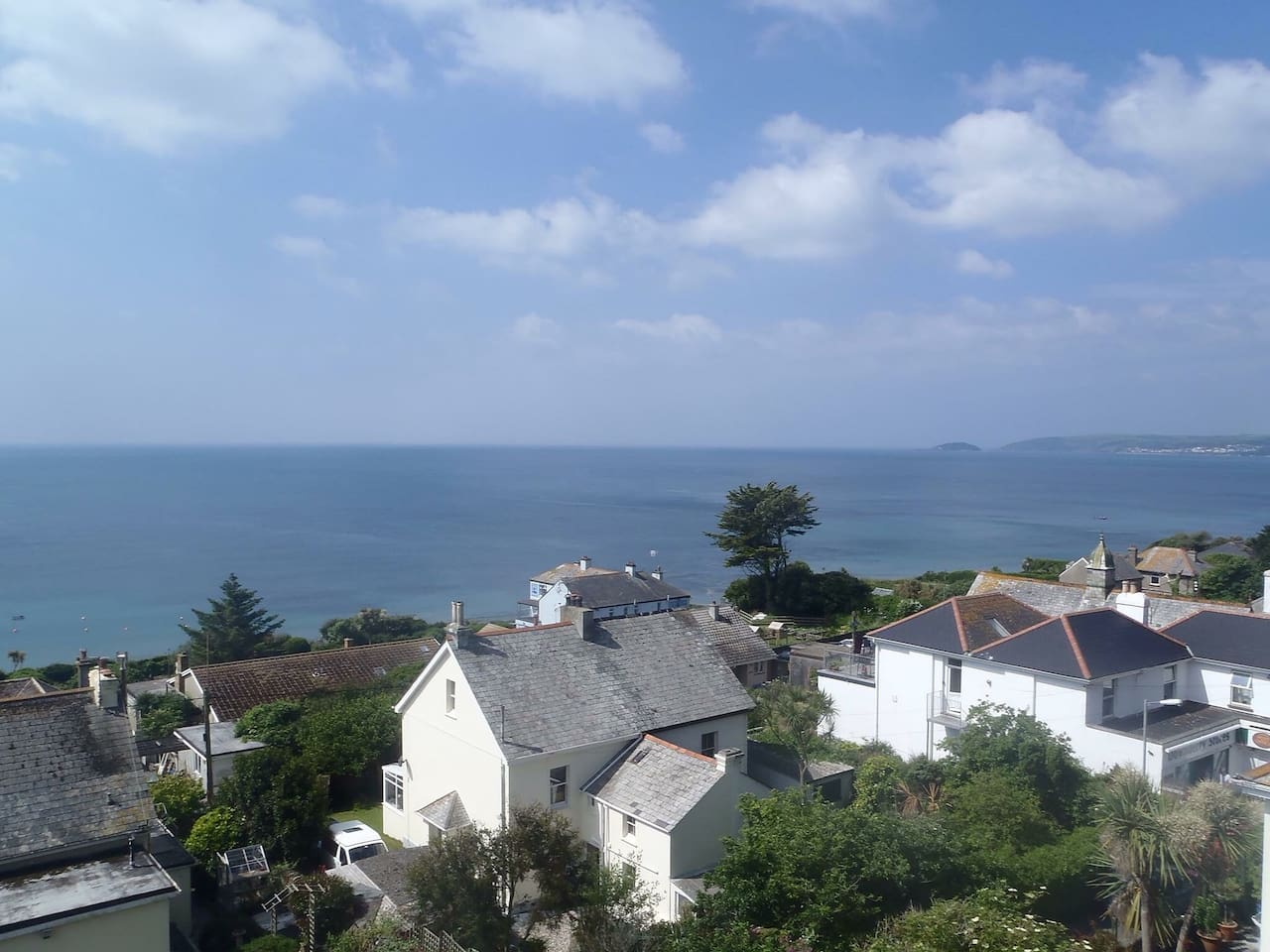 The view from the front window looking to the South West on an early summers day.