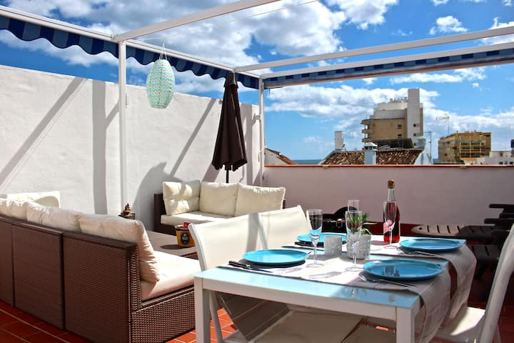 Apt. with rooftop terrace in the heart of Marbella