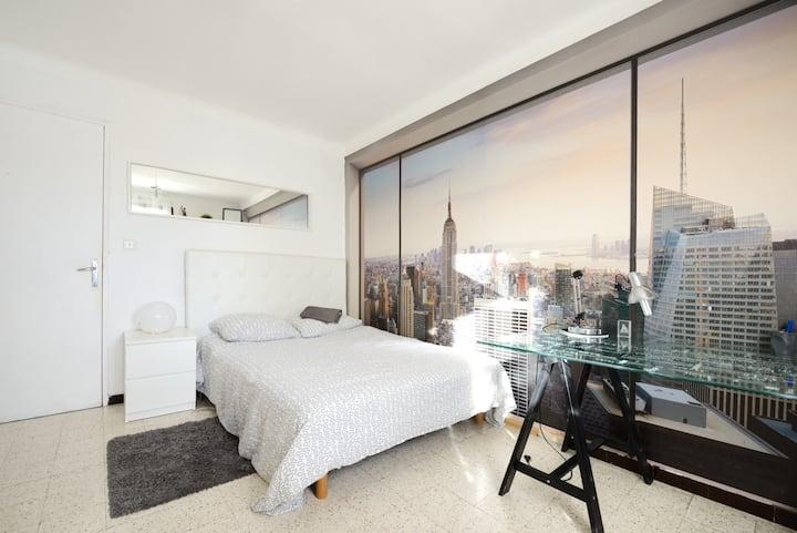Chambre chez l'habitant avec balcon à Marseille