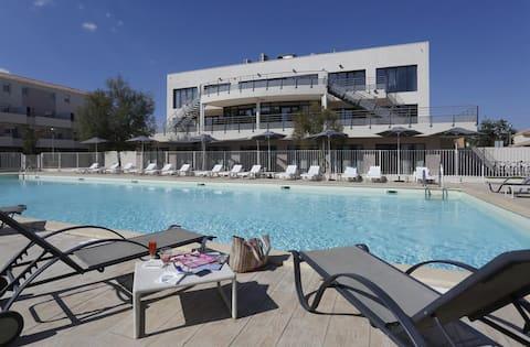 F3, piscine Grau du Roi, résidence sécurisée 3*