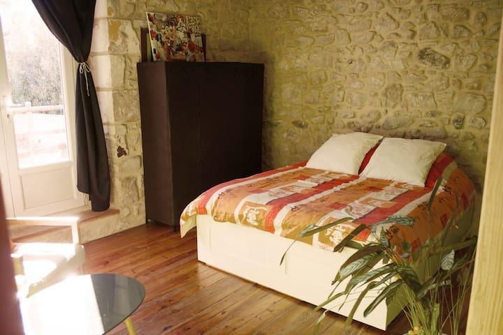 Chambre à la campagne, salle de bain et wc privés - Préchac - Hus