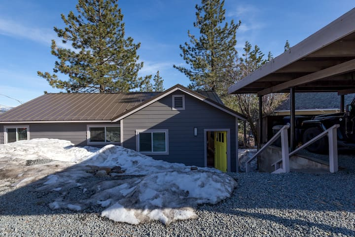 Primary access the house is via the back door located just a few steps from the carport.