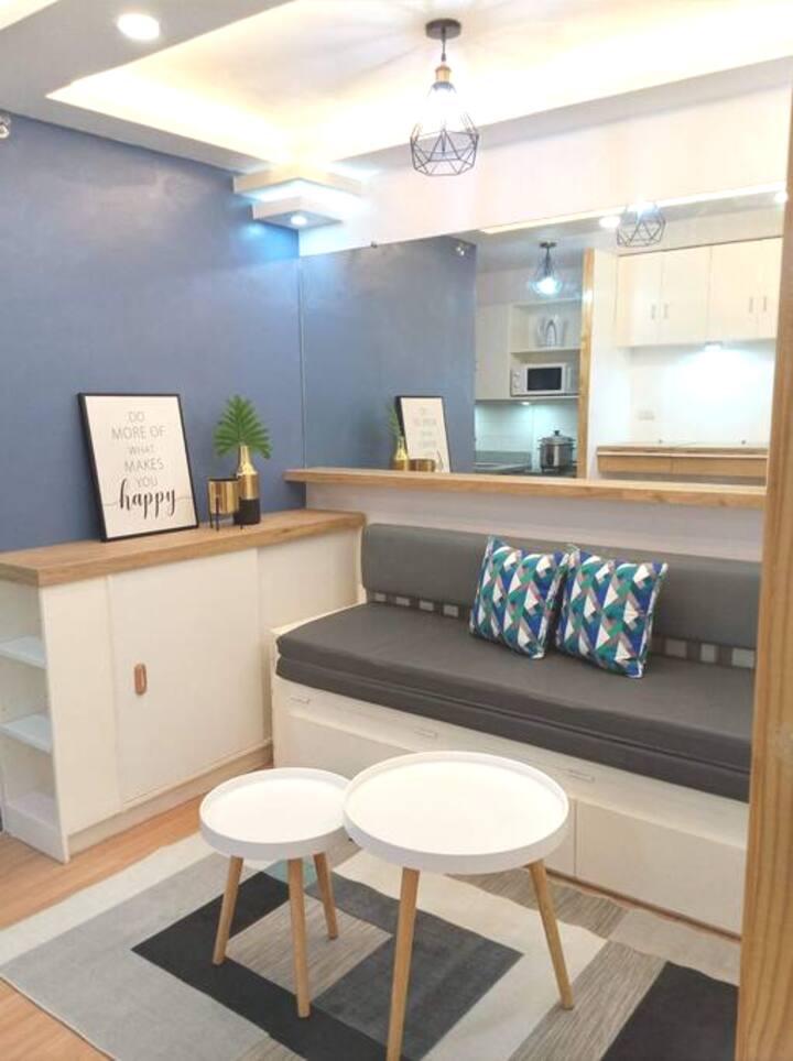 Scandinavian Interior Design 1 Bedroom Condo Unit