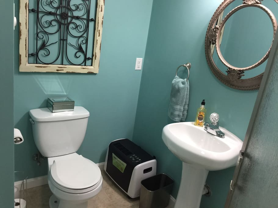 Private guests toilet and shower