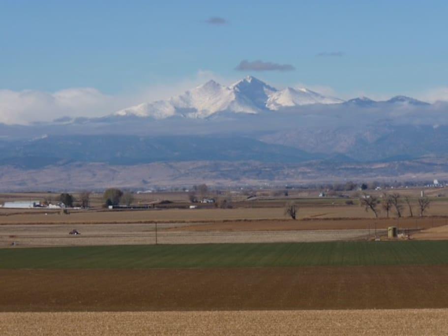 Mountain view of Longs Peak.