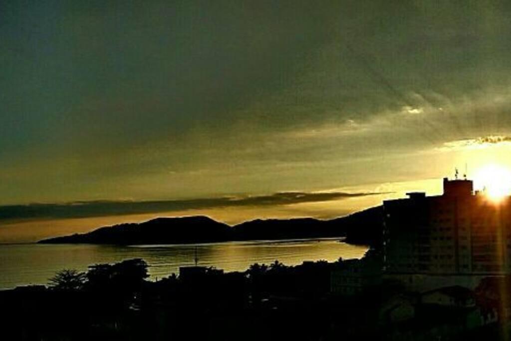 Vista da sacada - amanhecer