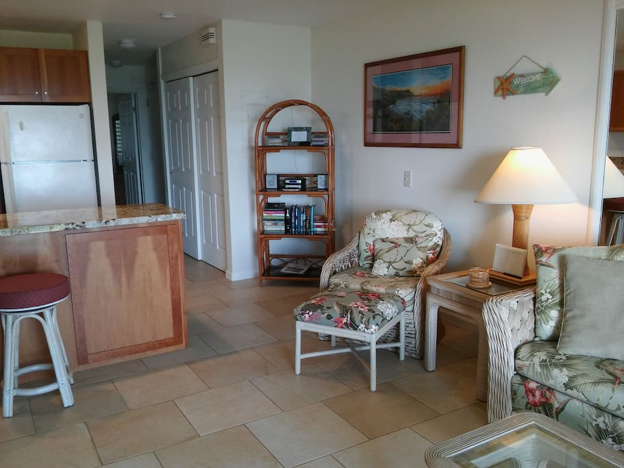 View from Living area to Bedroom at back (Mauka)