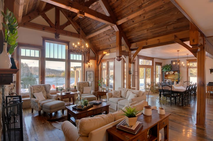 Beautiful Timber Frame Home on Stunning 100 Acres