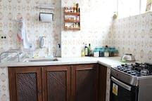 Cozinha! Sempre limpinha e à sua disposição!